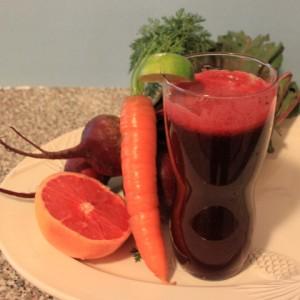 Beet-Carrot-Fruit Juice With Lemon
